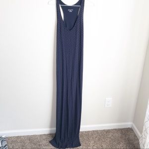 Merona maxi dress Navy with Red Xs racer back